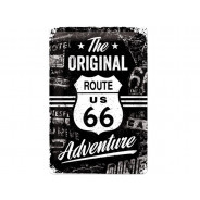 Nostalgic Arts Route 66 The Original Adventure Plaque en tôle (20x30cm)