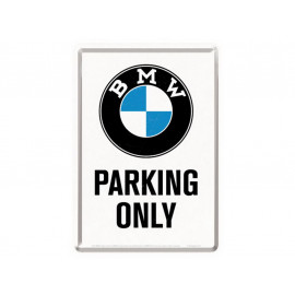 Nostalgic Arts BMW Parking Only White Carte postale en tôle (10x14cm)
