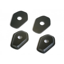 P&W Mounting Plates Set Indy Spacer ISS2 (ISO1) for Mini-Turn Signals Suzuki SV 650/SV 1000 (2003-) / GSXR 600/750/1000 (2002-) (black)