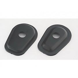 P&W Mounting Plates Set Indy Spacer ISK1 for Mini-Turn Signals Kawasaki (black)