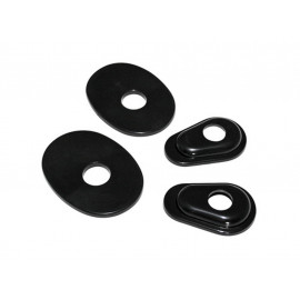 P&W Mounting Plates Set Indy Spacer ISY3 for Mini-Turn Signals Yamaha (black)