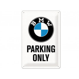 Nostalgic Arts BMW Parking Only White Plaque en tôle (20x30cm)