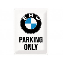 Nostalgic Arts BMW Parking Only White Plaque en tôle (30x40cm)