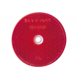 P&W Reflector round (red) 60mm
