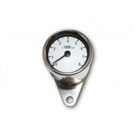 P&W RPM Counter Stainless Steel 60mm electronic 8.000 R/min (white)
