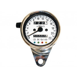 P&W Speedometer Stainless Steel (blue)