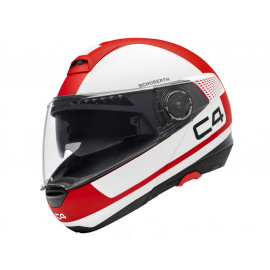 Schuberth C4 Legacy Red Casque modulable (blanc/rouge)