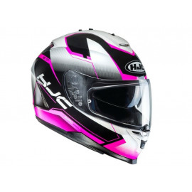 HJC IS-17 Loktar MC8 Full Face Helmet (white / black / pink)