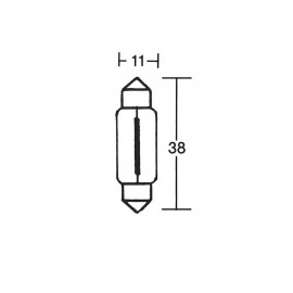 P&W Rear Light Bulb 12V 5W