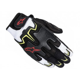 Alpinestars Gants Moto Fighter (noir/jaune/rouge/blanc)