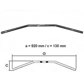 Fehling Guidon Black Drag Bar Grand 1 Pouce (92cm) avec entaille