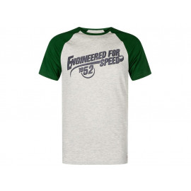 Kawasaki Engineered for Speed T-Shirt Hommes (gris/vert)